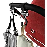 Stroller Hooks Baby Cargo Stroller Accessories Diaper Bags Holder Attachments (2 Pack) by Mommy Einsteins