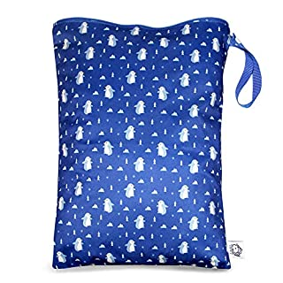 Washable and Reusable Wet Bag, Diaper Bag, Water Resistant Swimming Bag, Travel Toiletries Pouch, Yoga Gym Bag, Penguins, 1 Pcse 12.6'' x 16.5''