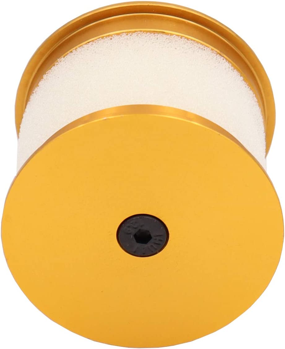 Yellow Alloy Capped Air Filter Element Sponge N10004 for RC 1:8 Nitro Car