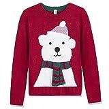 Benito & Benita Christmas Sweater Crew Neck Pullover Xmas Sweater Bear Boys/Girls 3-13Y