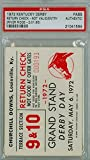 kentucky derby ticket stub - 1972 Kentucky Derby Ticket Stub Return Check - River Ridge May 6 1972 PSA/DNA Authentic PSA AUTH May 6 1972 [VG/EX; LT CRN WEAR, CRN CREASE]