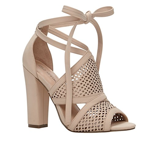 Call It Spring Womens Rounkles Peep Toe Special Occasion Ankle Strap Sandals, Bone, 7.5 Strap Spring Sandals Shoes