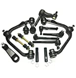 14 Piece Front Suspension Kit for Ford Expedition F-150, F-150 Heritage F-250 Lincoln Navigator Pitman and Idler Arms Tie Rod Ends Adjusting Sleeves Ball Joints Control Arms