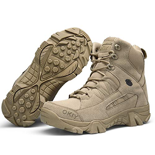 AONEGOLD Hommes Bottes de Randonnée Tactiques Militaires de Combat Bottes Chaussures de Trekking extérieures Respirantes… 5