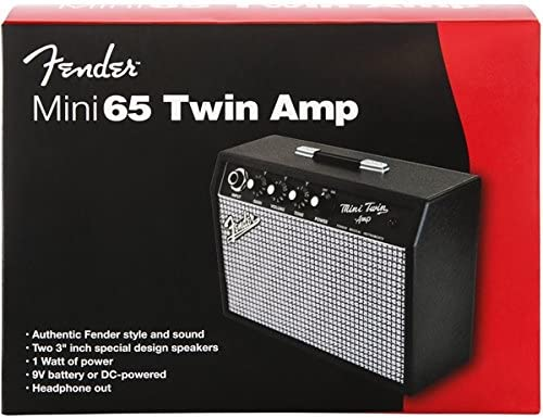 """Fender Mini /'65 Twin Portable Guitar Amp Two 3/"""" Speakers Battery Powered"""