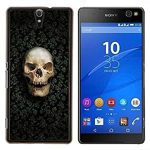 For Sony Xperia C5 Ultra Case , Patrón del diseño del cráneo- Diseño Patrón Teléfono Caso Cubierta Case Bumper Duro Protección Case Cover Funda