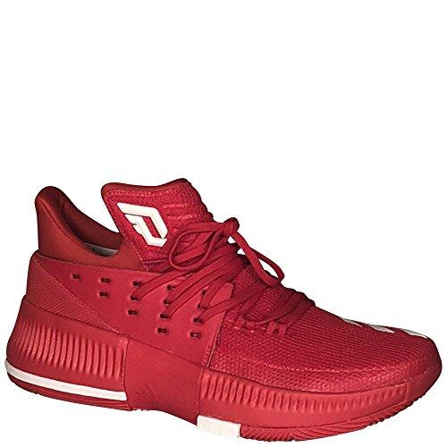 Adidas Dame 3 Nba / Ncaa Scarpe Da Uomo Scarlet Basket / Runningwhite / Scarlatto