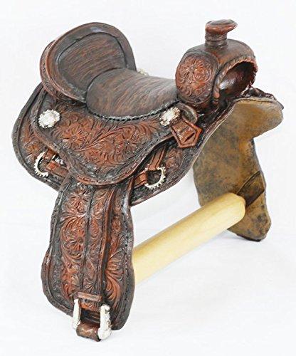 Old Saddle - LL Home Saddle Toilet Paper Holder