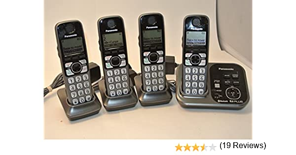 Panasonic DECT 6.0 Plus 4-handset sistema de teléfono inalámbrico con link-to-cell, Plata: Amazon.es: Electrónica