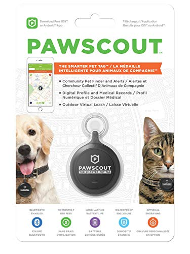 - Pawscout Smarter Pet Tag: Dog & Cat Community Pet Tracker (Bluetooth, not GPS), Medical Profiles, Virtual Pet Leash, Walk Tracker, Pet Points of Interest, No Monthly Fees