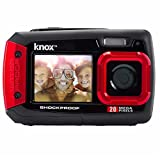 Knox Gear Dual-Screen 20MP Rugged Underwater Digital Camera with Video (Red)