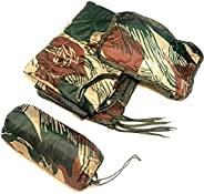Dragoon Unlimited Zippered Fireforce Woobie - Rhodesian Army Style Brushstroke Camouflage Military Grade Ponch