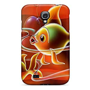 Snap-on Case Designed For Galaxy S4- Abstract Fish