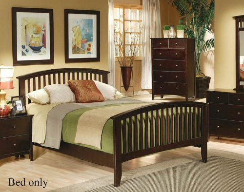 (Cappuccino Mission Cal. King Bed by Coaster Furniture )