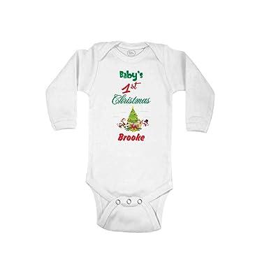 18b465894 Amazon.com  Personalized Custom Holidays Baby s First Christmas ...