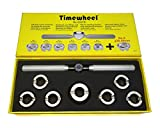 TIMEWHEEL Hand Held 7 Dies Case Back Opener Tool for Rolex Tudor Oyster Waterproof Watch 36.5mm Included