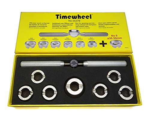 Tudor Oyster - TIMEWHEEL Hand Held 7 Dies Case Back Opener Tool for Rolex Tudor Oyster Waterproof Watch 36.5mm Included