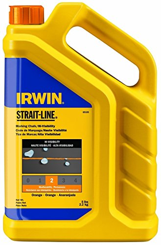 (2 Pack Irwin 65105 Strait-Line 5lb Hi-Visibility Marking Chalk - Fluorescent Orange )