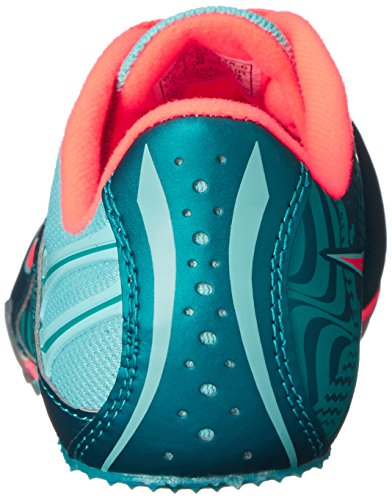 Saucony Women's Spitfire Spike Shoe, Teal/Coral, 10 M US by Saucony (Image #2)