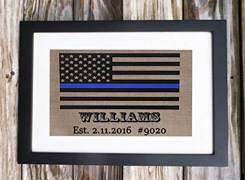 Thin Blue Line Police Officer Gift, Thin Blue Line Print, Police Officer Retirement Custom Print, Thin Blue Line Gift, Buy 3 or more and get Expedited shipping upgrade !! -