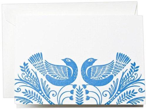 Crane & Co. Letterpress Birds Note (CF1327) ()