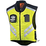 EDTara Mens Motorcycle Racing Riding Sleeveless Jacket Safety Warning Reflective Vest