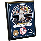 MLB New York Yankees Alex Rodriguez Plaque with Game Used Dirt from Yankee Stadium, 8