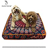 GANESHAM Indian Bohemian tapestry meditation cushion boho floor cushion handmade pillow insert boho seating pouf ottoman indian pillow shams boho mandala dog bed bohemian mandala floor pillow
