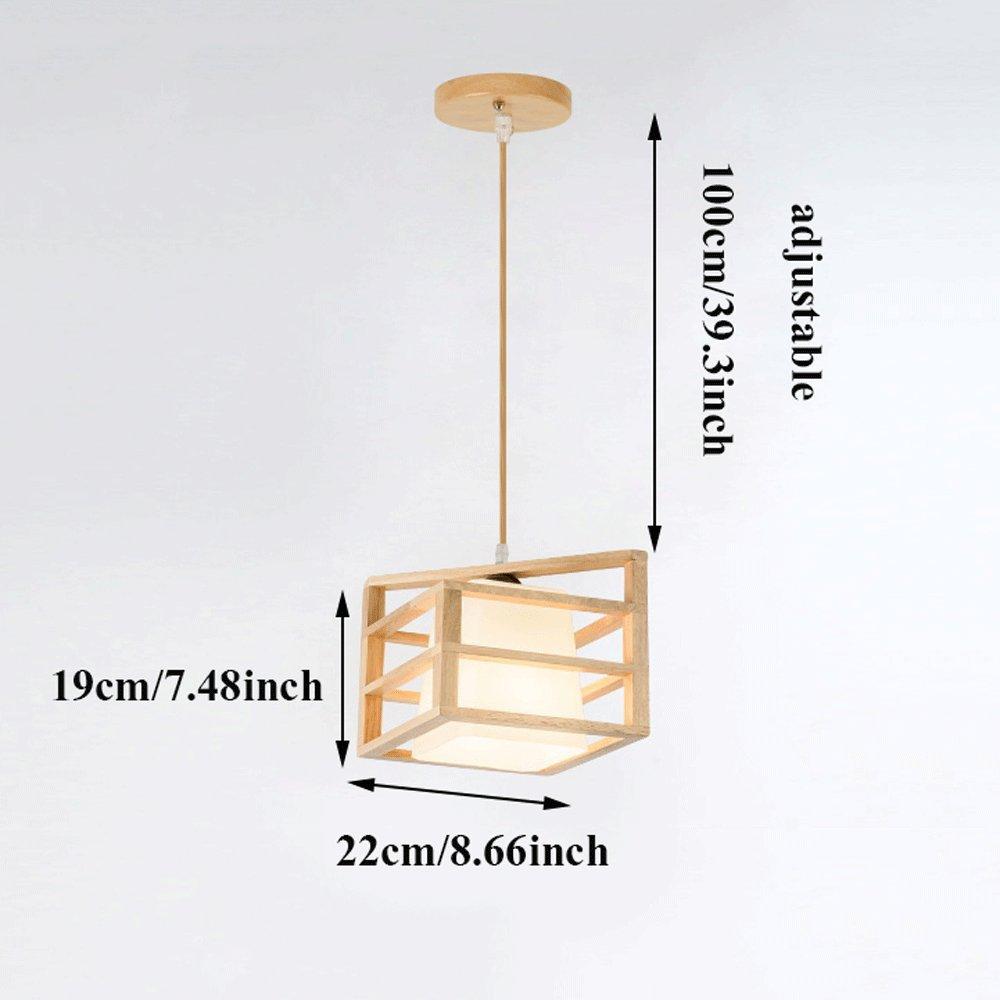 Amazon.com: Lámpara de techo moderna y ajustable de madera ...