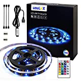 LED Strip Lights 6.56ft 2m TV Backlight with Remote 5050 RGB USB Powered Flexible Color Changing Full Kit, Christmas Decoration