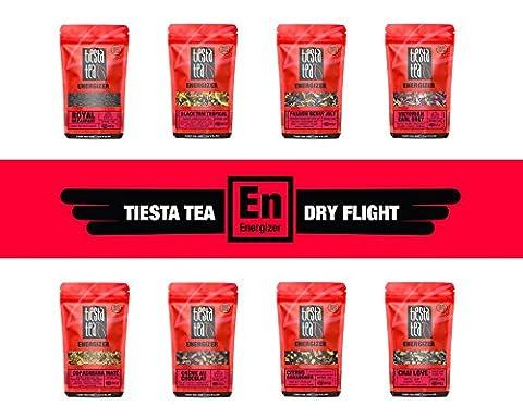 Tiesta Tea ENERGIZER Dry Flight, 8 Loose Black & Mate Tea Blends, 8 to 12 Servings of Each Flavor, High Caffeine, Sampler Gift - Victorian Earl Grey Tea