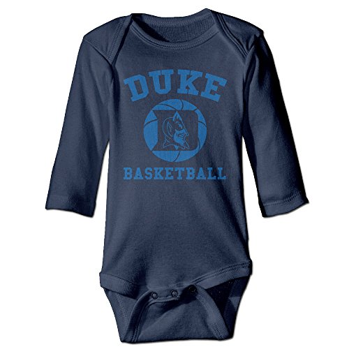 ElishaJ Duke University Babys Unisex Long Sleeve Jumpsuit Outfits Navy Size 12 Months ()