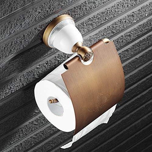 トイレットペーパーロールホルダーペーパーシェルフトイレットペーパー収納ラック ホルダー銅ボディケア壁紙セピアコンチネンタル ドリルWCペーパーホルダーのバスルームアクセサリーキッチンロールホルダーなし
