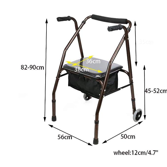 DQ-Caminante Andador Profesional Plegable con (Mesa para ...