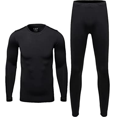 Hi-crazystore Men s Underwear Winter Ski Fleece Thermal Set Warm Top and  Bottom (M a54598fb1