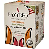 Eazy BBQ, Oak Charcoal 100% Natural, Ecological, Clean, Easy to Use - Large / Party Size - BBQ for 8 to 16 people