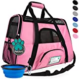 PetAmi Premium Airline Approved Soft-Sided Pet Travel Carrier | Ideal for Small - Medium Sized Cats, Dogs, and Pets | Ventilated, Comfortable Design with Safety Features (Small, Pink) Larger Image