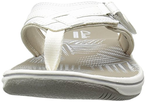 CLARKS Women's Breeze Sea Flip Flop, New White Synthetic, 9 M US by CLARKS (Image #8)