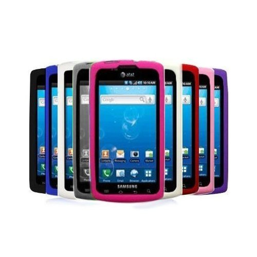 - 9-in-1 Colorful Premium Soft Silicone Gel Skin Case Cover Accessories for AT&T Samsung Galaxy S Captivate i897