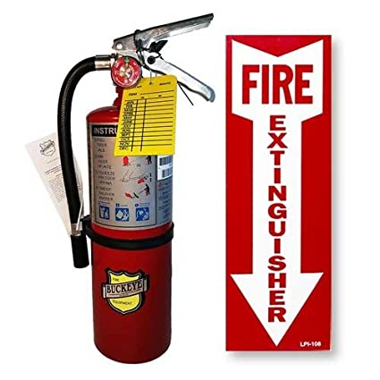(Lot of 1) 5 Lb  Type ABC Dry Chemical Fire Extinguisher with 1 - Vehicle  Bracket and 1 - Inspection Tag
