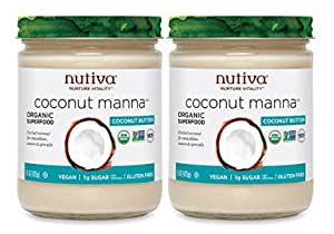 Nutiva Organic Coconut Manna, Coconut, 15 Ounce (Pack of 2), Original