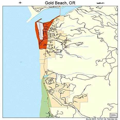 Amazon.com: Large Street & Road Map of Gold Beach, Oregon OR ... on gold mining in oregon, gold in washington state, gold panning locations in oregon, gold in north america map, gold prospecting in oregon, gold in south carolina map, gold in canada map, gold in australia map, gold usa map, gold in north carolina, gold in south dakota map, gold in south africa map, gold in new mexico, gold in mexico map, gold panning rules in oregon, gold finds in oregon, gold lake oregon, gold in bend oregon, gold areas in oregon, gold in rocks in oregon,