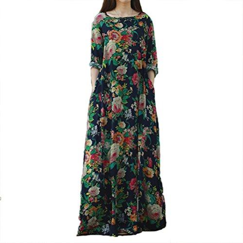 Print Cotton Maxi Dress - 2
