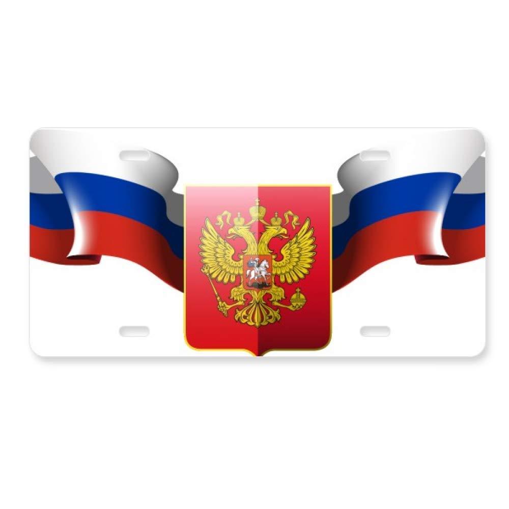FerryLife Emblema Nacional de Rusia - Placa de matrí cula para Coche (Accesorio de Acero Inoxidable) sku02272879b75879f1321