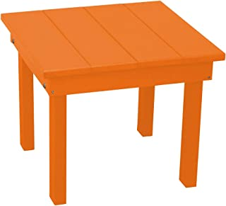 product image for Outdoor Hampton End Table - Orange Poly Lumber - Recycled Plastic