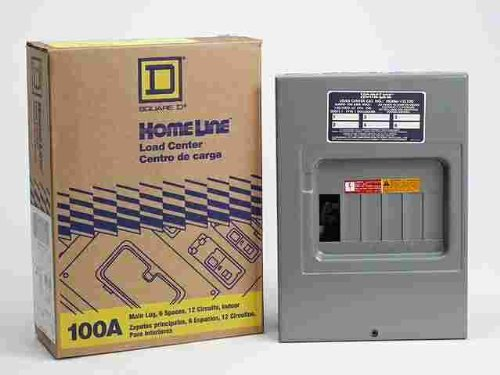Homeline Main Lug Load Center 100 Amp 6 Space Boxed by Square D by Schneider Electric