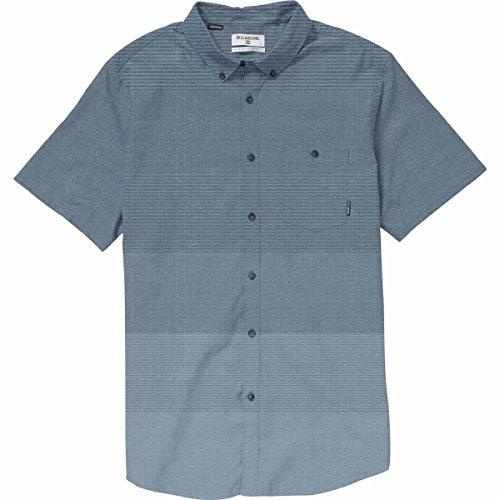 (Billabong Men's Faderade Short Sleeve Shirt, Blue, S)