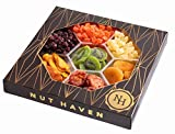 Nut Haven Gourmet Assorted Dried Fruit Mix Gift Basket/Box ~ Variety of 7 Section Dried Fruit & Nuts Tray ~ Great for: Corporate, Holiday, Birthday, Christmas, Thank You, Men & Women, Snack ~ Prime For Sale