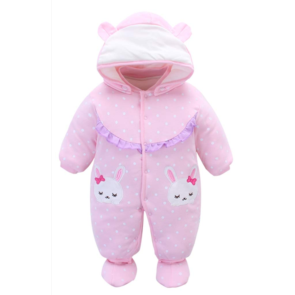 9b0a4fe8d185 Baby Rompers with Footies Hat Boys Girls Hooded Jumpsuit Infant ...