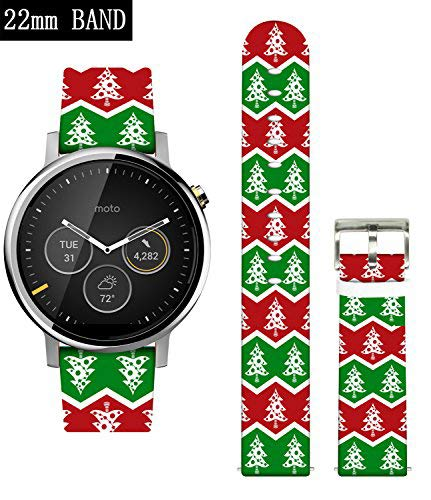 - Gear S3 Classic Bands,Ecute Leather Band for Samsung Gear S3 Frontier/S3 Classic,Moto 360 2 46mm/Pebble Time-22mm Watch Bands and Other 22mm Band Lug Watches-Beautiful Christmas Tree